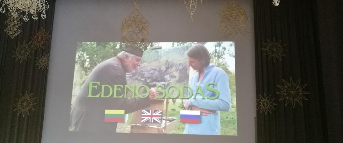 """Filmo ,,Edeno sodas"""" peržiūra ir aptarimas"""