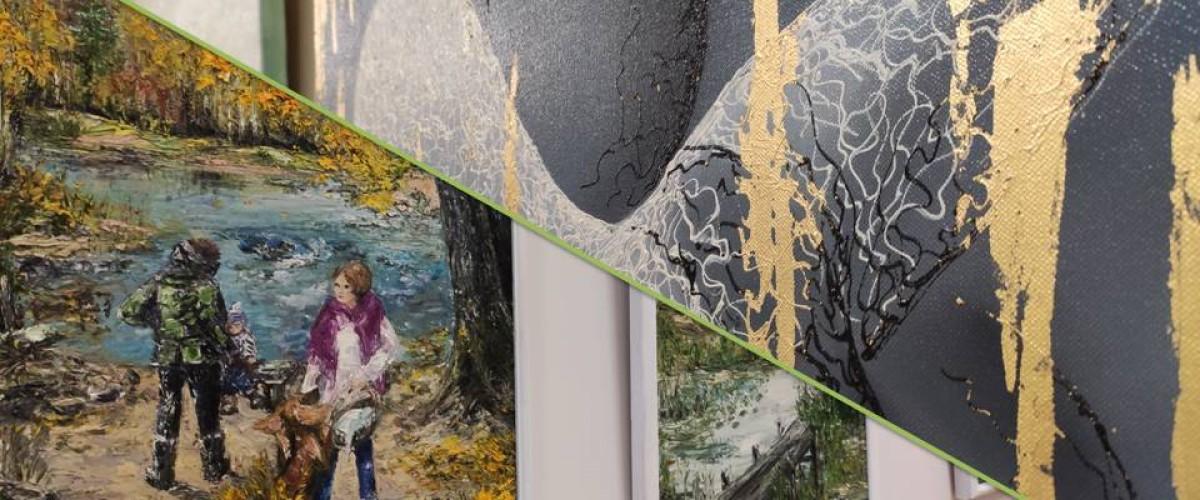 Onutės Viltės Bagdonavičienės ir Galinos Šumilovos tapybos darbų paroda