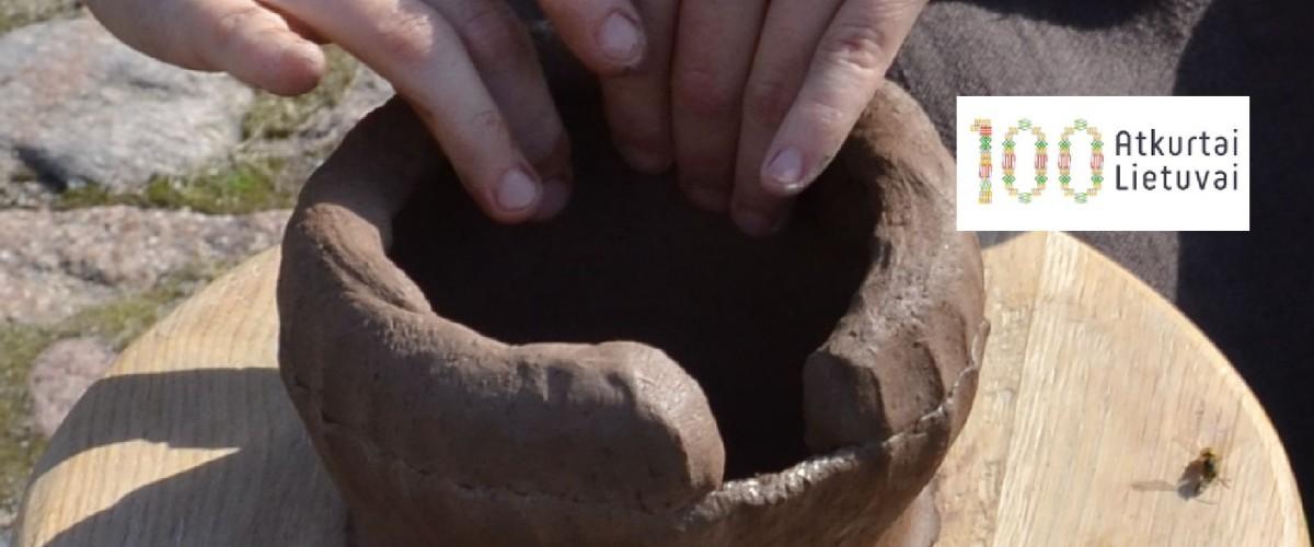 Keramikos amato edukacinis užsiėmimas